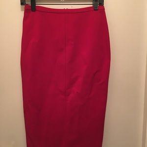 DVF Red Skirt
